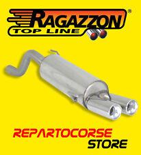 RAGAZZON TERMINALI SCARICO ROTONDI 2x80mm ALFA ROMEO MITO 1.6 JTDm 88kW 120CV