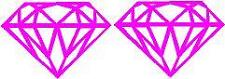 Small PINK Vinyl Decal - Diamond rock car truck jewelry boat sticker fun