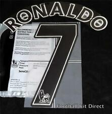 Manchester United Ronaldo 7 Premier League Football Shirt Name Set Lextra Black