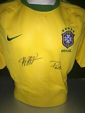 Signed Rare Brazil Shirt By Kaka And Pato