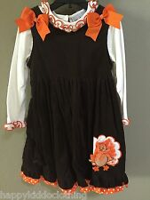 Boutique Rare Editions Thanksgiving Turkey Dress Sizes size 5 set outfit new nwt
