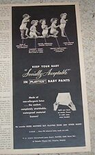 1955 print ad -Playtex diaper Baby Pants CUTE International Latex vintage ADVERT
