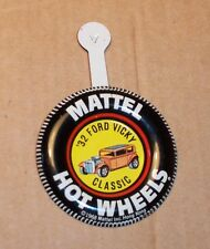 HOT WHEELS Mattel Vintage Redline CLASSIC '32 FORD VICKY Tin Button Badge NICE
