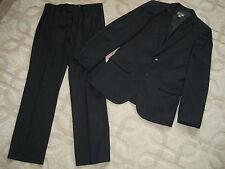 Men's H&M Navy Blue Pin Stripe Suit size 36R Jacket/32R Pants *VGUC