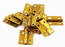 "3/4"" High brass hinges clock case repairs parts clockmakers dolls house 12pcs"