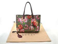 Auth GUCCI Reversible GG Blooms Tote Shoulder Bag Beige/Pink GG Leather - 92864