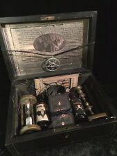 Madame Mysteria's Antique Wooden Witchcraft Box of Mysterious Occult Treasures