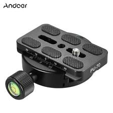 Andoer Tripod Monopod Head Quick Release Plate Clamp Adapter for Arca Swiss B6A8