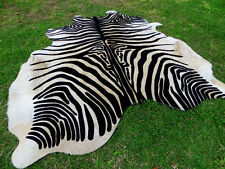 GORGEOUS NEW ZEBRA COWHIDE SKIN Rug Print Printed steer COW HIDE - DC5203 D12