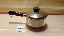 1801 REVERE WARE-88  1QT STAINLESS STEEL SAUCE PAN COPPER BOTTOM CLINTON,ILL