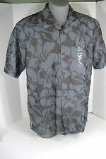 New Mens Large Quiksilver Hoale Gray Rayon Dress Shirt $50