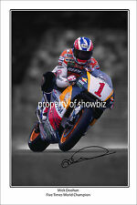 * MICK DOOHAN * Autographed poster of MotoGP star. Large size!