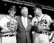 Warren Spahn & Lew Burdette Photo 8X10 Milwaukee Braves