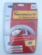 Belkin Extension Cable Kit 10m for Home Telephone Lines Wall Socket