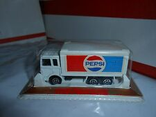 VTG 1980 MAJORETTE 214 WHITE PEPSI CONTAINER TRUCK 1/60 SEALED/MINT FRANCE RARE