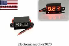 Red Mini DC Waterproof 0.28 DC 3.5-30V Mini Digital LED Voltmeter Volt Meter USA
