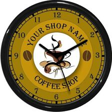 Coffee Shop Personalized Wall Clock Gift Restaurant Coffee House Cappuccino
