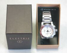 Electric Visual Authentic Watch DW01 SS Chronograph White Dial NEW! 30906