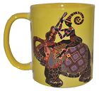 Spiritual Healing Yellow Elephant Coffee Mug - Traditional Indian Design