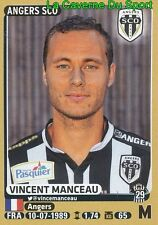 039 VINCENT MANCEAU # SCO.ANGERS STICKER PANINI FOOT 2016