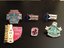 Set of Six Olympic Pins from the 1996 Atlanta Summer Olympics