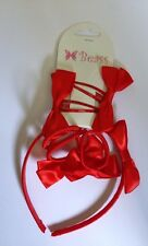 Brand New Girls 7pc Set of Headband Clips Kids Hair Accessory in Red colour