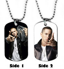 DOG TAG NECKLACE - Eminem 2 Rap Rapper Singer Songwriter jewelry