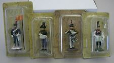 """Eaglemoss metal toy soldiers Napoleonic Wars Lot of 4 different 2,36"""" Lot EB3"""