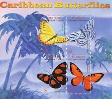 Palm Island Grenadines St Vincent 2003 MNH Caribbean Butterflies 4v M/S Stamps