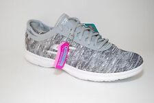 SKECHERS Women's Go Step Gray White Fashion Sneakers SZ 11 NEW