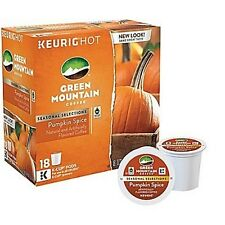 GREEN MOUNTAIN PUMPKIN SPICE COFFEE KEURIG (18 K-CUP) BRAND NEW IN BOX!!