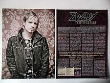 COUPURE DE PRESSE-CLIPPING :  EDGUY [4pages] 09/2011 T. Sammet,Age of the Joker