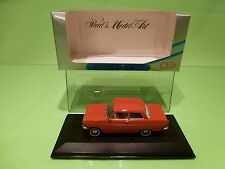 MINICHAMPS 43002 OPEL KADETT A  1962-1965 - RED 1:43 - GOOD IN BOX