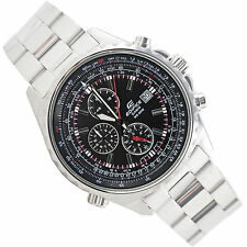 Casio EF527D-1A Edifice Men's Chronograph Steel Watch Black Dial 100M New