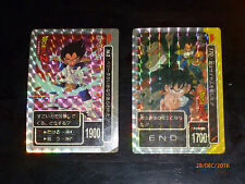 DRAGON BALL Z DBZ AMADA RARE PP CARD PART PRISM CARDDASS CARTE 162 & 170 JAPAN