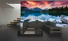 Mountain Lake Wall Mural Photo Wallpaper GIANT DECOR Paper Poster Free Paste