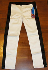 NEW Tractor Girls Stretch Stretchy Jeggings Jeans White & Black Tuxedo Size 14