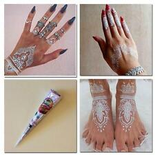 Natural Herbal Henna Cones Temporary Tattoo kit White Body Art Paint Mehandi MW