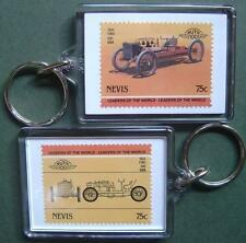 1904 FORD 999 WLSR Car Stamp Keyring (Auto 100 Automobile)
