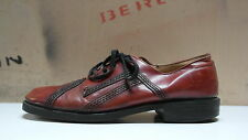 Herren Halbschuhe Leder D 45 UK 10,5 Schuhe Schnürschuh Lace up TRUE VINTAGE 70s