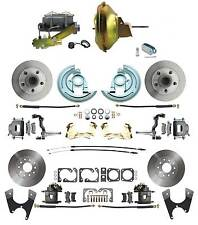 "1967-72 Chevelle Standard 4 Wheel Power Disc Brake Conversion Kit, 11"" Booster"