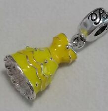 Disney Beauty And The Beast Belle Yellow dress European Chamilia Style Charm