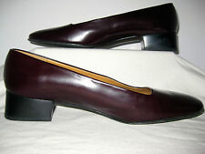 MADE IN SPAIN RALPH LAUREN CORDOVAN 9.5 B WOMENS PUMPS SHOES RED HARDLY WORN