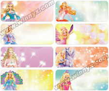 48 Disney Barbie  personalised name stickers - or  100 L+M pack for $8