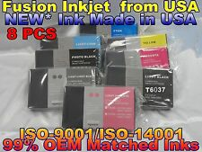 8 NEW Pigment Compatible Cartridges for Epson Stylus Pro 7880 9880 220ml Ink 627