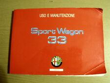 Manuale uso Alfa Romeo 33 Sport Wagon Owner's Manual [Tr.15]