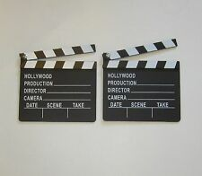 2 NEW MOVIE DIRECTOR'S CLAPBOARD PROP HOLLYWOOD CLAPPER CHALKBOARD PARTY DECOR