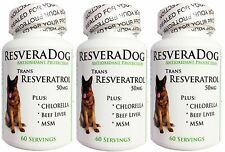 3 Resveratrol DOG HEALTH ~ Joint Heart Weight Vitamins Minerals Digestion Immune