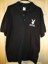 PLAYBOY ENERGY DRINK BLACK POLO SHIRT SIZE LARGE