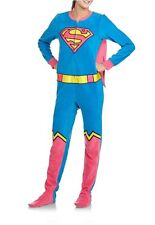 DC Comics Supergirl Footed Pajamas w Cape Costume Superman Footie NWT L LAST ONE